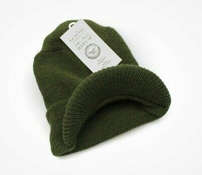Genuine Us Army Od Green Wool Jeep Cap Radar Hat Military Issue - Usa Made