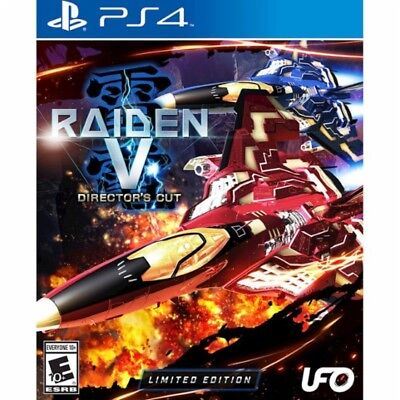 PS4 Raiden V 5 Directors Cut Limited Edition NEW Sealed REGION FREE USA Game