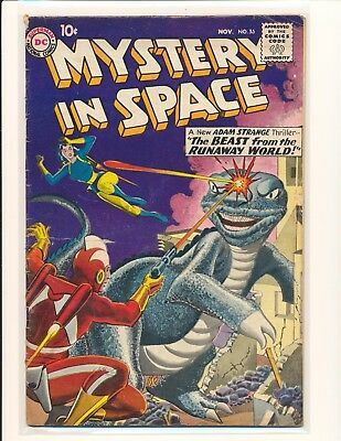 Mystery In Space # 55 - Adam Strange appearance VG Cond.