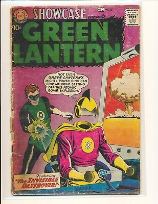 Showcase # 23 - 2nd SA Green Lantern Poor Cond. tape on inside cover
