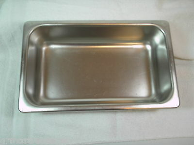 Bloomfield Industries 2.5 Qt Steam Table Pan 18-8 Stainless Steel MGST-1402 GUC
