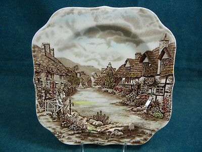 Johnson Brothers Olde English Countryside Bread Plate//s Brown Multicolored