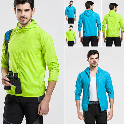 US Men Women Jacket Waterproof Windproof Outdoor Cycling Sports Rain Coat S-3XL
