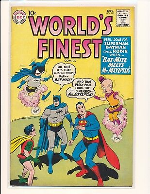 World's Finest Comics # 113 - 1st Bat-Mite & Mr. Mxyzptlk team-up VG+ Cond.