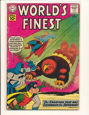 World's Finest Comics # 118 G/VG Cond. slight water damage