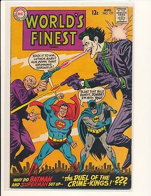 World's Finest Comics # 177 - Joker/Luthor team-up VG Cond. slight water damage