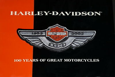 Harley Davidson 100Th Anniversary Bar & Shield Wings Patch Small Authentic