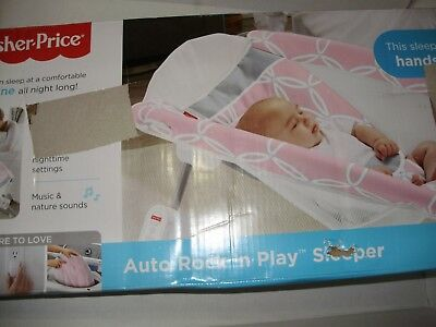 Fisher Price Hands Free Auto Rock n Play Portable Musical Sleeper T1