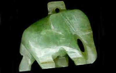 Antique 25ct Jade Elephant Ancient Sacred Dream Stone Warrior Battle Talisman