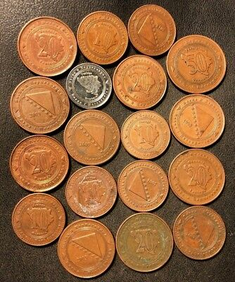 Old BOSNIA Coin Lot - 18 High Quality Coins - Scarce Type - Lot #915