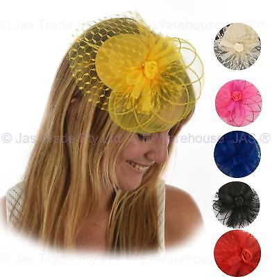 Spring Racing Cocktail Party Race  Fascinator Feather Cocktail Mini Top Hat Clip