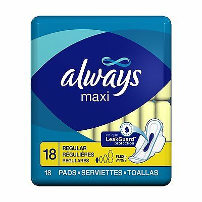 Always Maxi Pads Regular with Flexi-Wings - 18 Pads