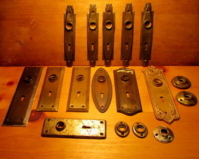Lot of Vintage Door Plates Interior Door Hardware Rosettes Ornate Door Plate