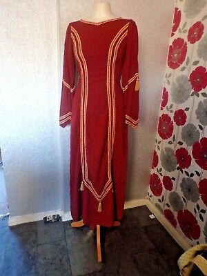 Vintage Quality Ex Theatre Medieval /gothic  Style Dress  Size 8