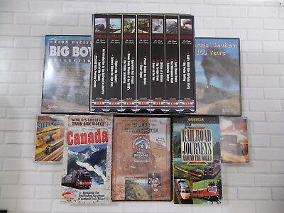 Railroad DVD, VHS, Cassette  lot - Pentrex BIG BOY, Steam Legacy, Nevada Norther