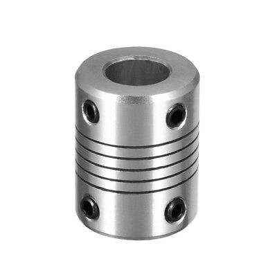 6mm to 10mm Shaft Coupling Flexible Coupler Motor Connector Joint L25xD18 Silver