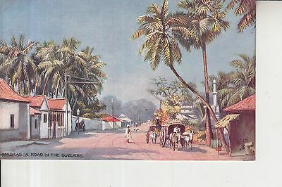 India Madras In The Suburbs Raphael Tuck Oilette  Postcard