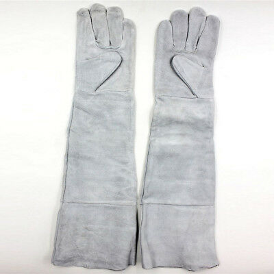 1 Pair Grey Leather Welding Gloves Heat Shield Cover Protective Hand Safety Wear