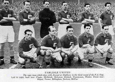 Carlisle United Football Team Photo>1950-51 Season