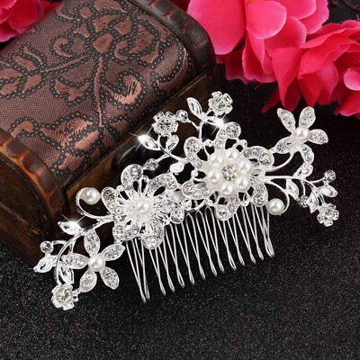 Floral Wedding Tiara Bridal Hair Combs Hairpin Jewelry Hair Accessories RY