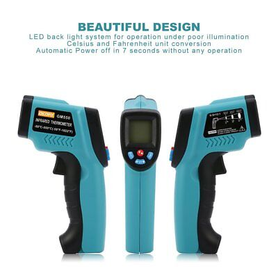 Digital Infrared Thermometer Laser Temperature Gun Pyrometer LED Back Light RY
