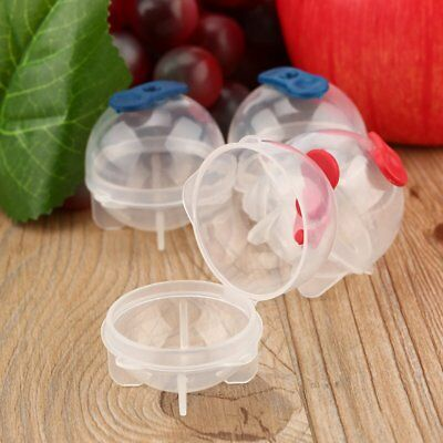 4Pcs Party Bar Plastic Cute Ice Cube Ball Tray Round Maker Sphere Mold Mould RY