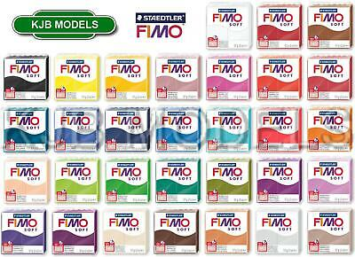 Genuine Fimo 57g Block Soft Oven Bake Modelling Clay - Choice Of 31 Colours