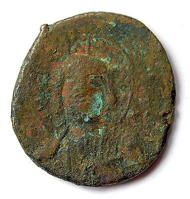 Byzantine Anonymous Issue Of John I 969-976 Ad Ae.follis Facing Bust Of Christ 4
