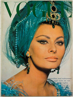 Sophia Loren ANDY WARHOL David Bailey NORMAN PARKINSON  Vogue magazine July 1965