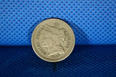 1865 3 Cent Nickel US Coin