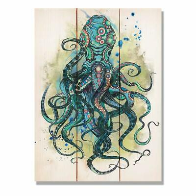 Day Dream HQ WCBO1115 11 x 15 in. Colorful Blue Octopus Wall Art