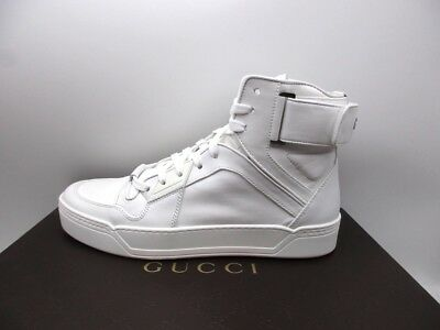 f31a95dfb73 MENS SHOE GUCCI white loafer slip on leather harness boat moccasins ...