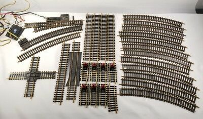 Large Lot Of 30 Vintage Atlas Ho Scale Brass Train Track Euc
