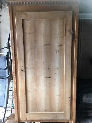 Antique Victorian Pine Single Wardrobe - excellent  condition