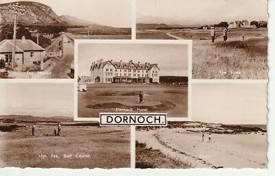 RP Early - DORNOCH - multiview including 17th Tee, Golf Course, publisher M & L