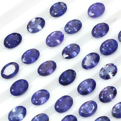 Wholesale Lot 5x3mm to 8x6mm Oval Facet Natural Tanzanite Loose Calibrated Gems