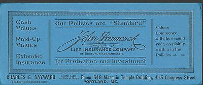 Lot of 12 JOHN HANCOCK Life Insurance Agent C. SAYWARD Portland ME Ink Blotters