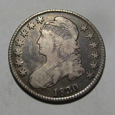 1830 Capped Bust Half Dollar -  Fine to Very Fine Condition - 147SA