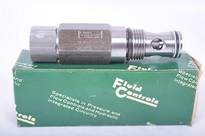 Fluid Controls Hydraulic Control Relief Valve Cartridge 1L10 F-25SV M#A E893