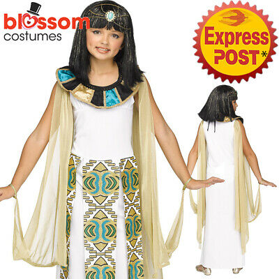 Deluxe Cleopatra Queen Egyptian Book Week Day Costume Fancy Dress Girl/'s Child/'s