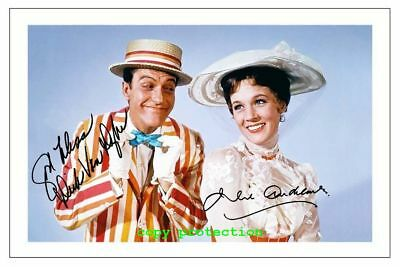 1942 Dick van Dyke, Julie Andrews, Mary Poppins, Autogramm Foto