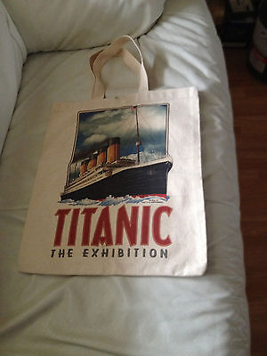 New Titanic The Exhibition Canvas Grocery Shopping Tote Bag