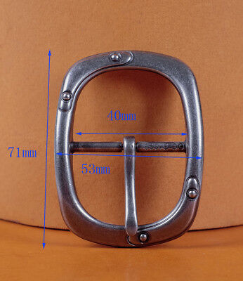 Heavy Wide Silver Center Bar Replacement Men's Belt Buckle Fits 40mm Belts Strap