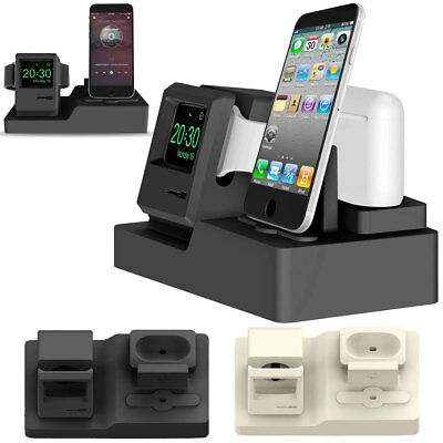 3in1 Charging Dock Stand Bracket Charger Accessories Holder For iWatch iPhone