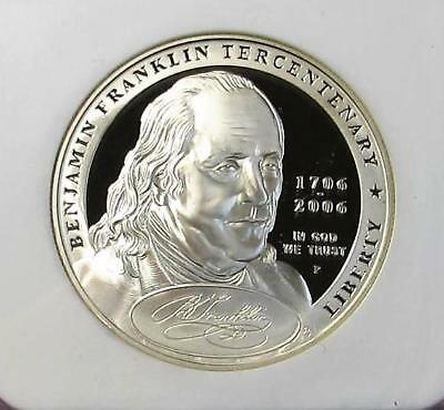 2006-P U.S.Silver One Dollar Ben Franklin *Founding Father* NGC PF70 Ultra Cameo