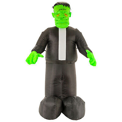 Halloween Haunters 7ft Inflatable Frankenstein Monster LED Yard Prop Decoration