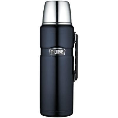 Thermos Stainless King 68 Ounce Vacuum Insulated Beverage Bottle, Midnight Blue
