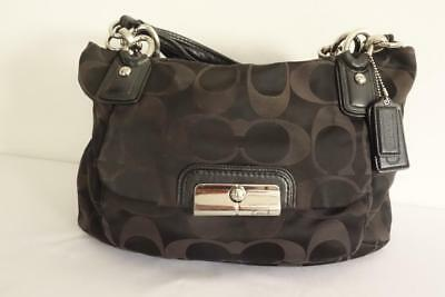 Authentic Coach Kristin Signature Sateen  East/West Bag 16778