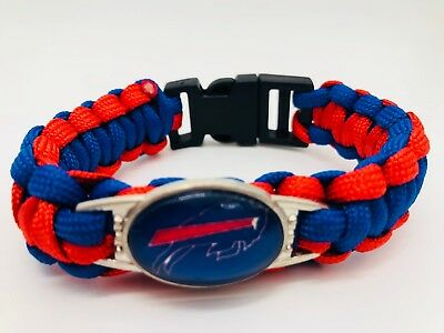 Buffalo Bills NFL Football Team Paracord Bracelet Wrap Wristband
