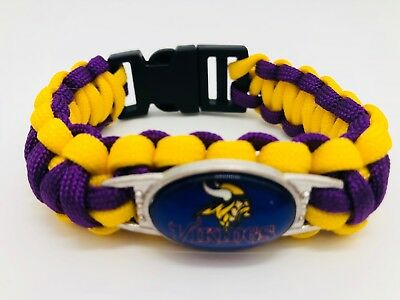 Minnesota Vikings NFL Football Team Paracord Bracelet Wrap Wristband